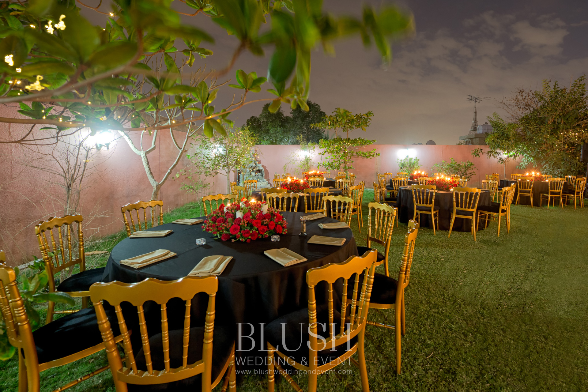 Engagement Dinner Setup in Dubai by Blush Wedding and Event Planner